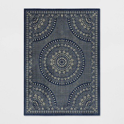 7'X10' Butterfield Woven Novelty Area Rug Navy - Threshold™
