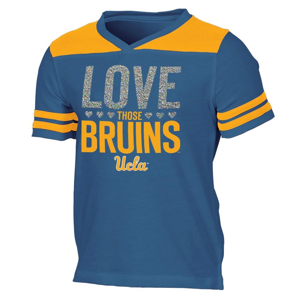 Ucla Bruins Girls' Short Sleeve Team Love V-Neck T-Shirt XL, Multicolored