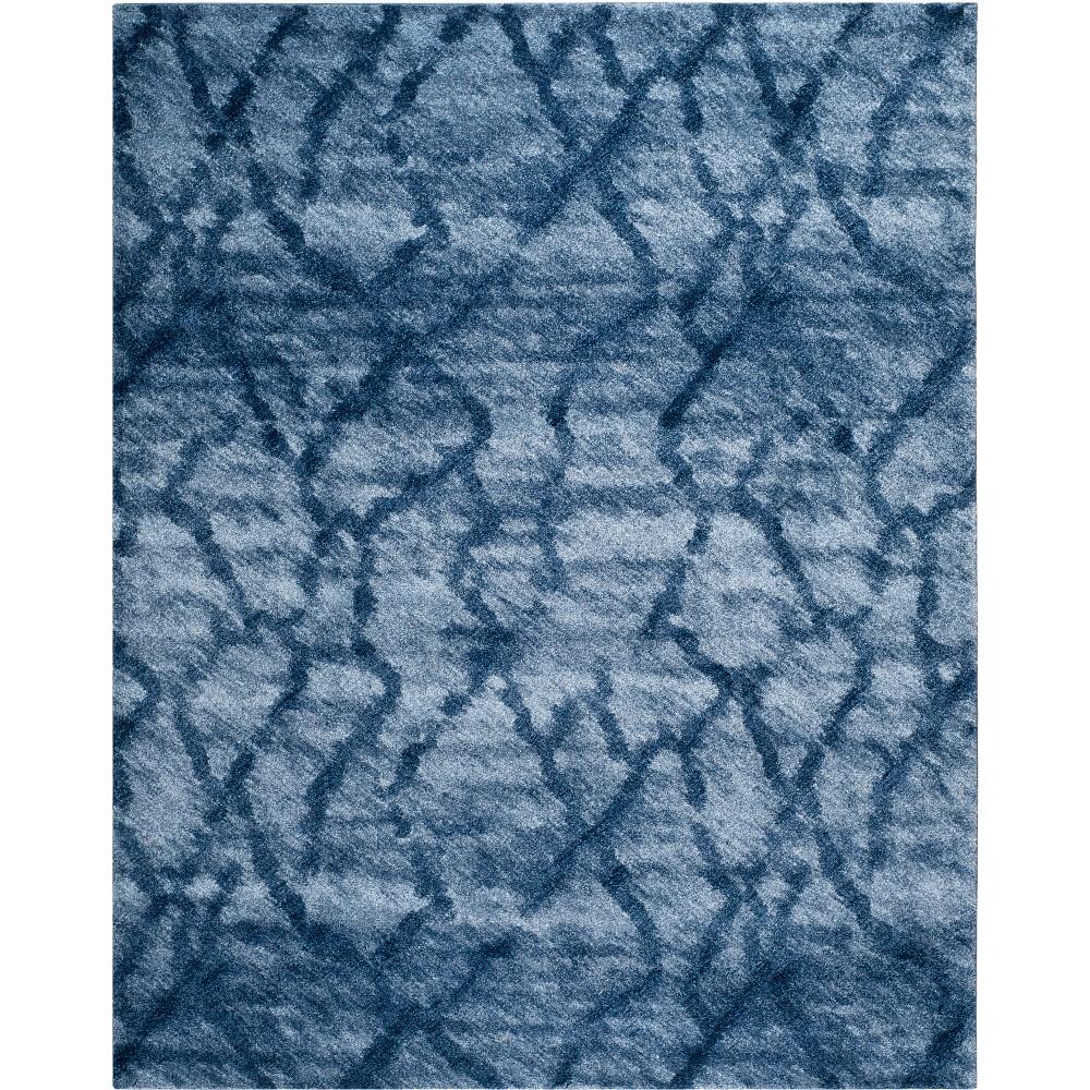 Shapes Loomed Area Rug Blue