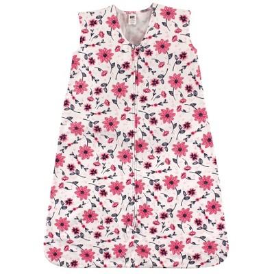 Hudson Baby Infant Girl Cotton Sleeveless Wearable Sleeping Bag, Sack, Blanket, Botanical