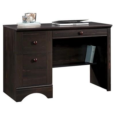 Harbor View 2 Drawer Computer Desk with Flip Out Keyboard Shelf - Antiqued Finish - Sauder