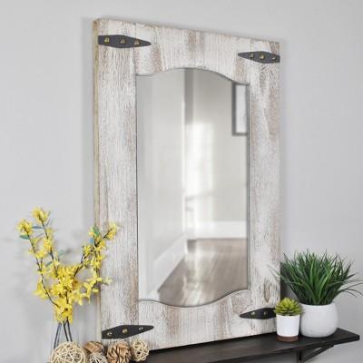 33.5 x21.5  Barn Door Mirror Desert Tan - FirsTime