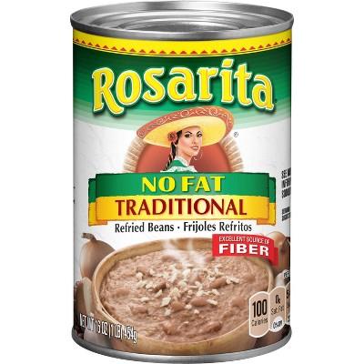 Rosarita Traditional No Fat Refried Beans - 16oz