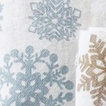 Tan/Blue Snowflakes