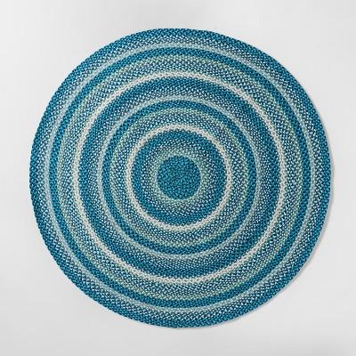 3'9 x4'5  Braided Circle Area Rug Blue - Pillowfort™