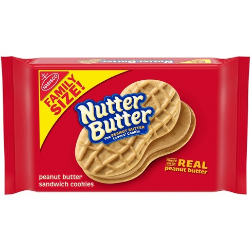 Nutter Butter Peanut Butter Sandwich Cookies - Family Size - 16oz - image 1 of 4
