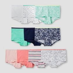 Girls' 10pk Cotton Boyshort - Cat & Jack™ Pink/Mint