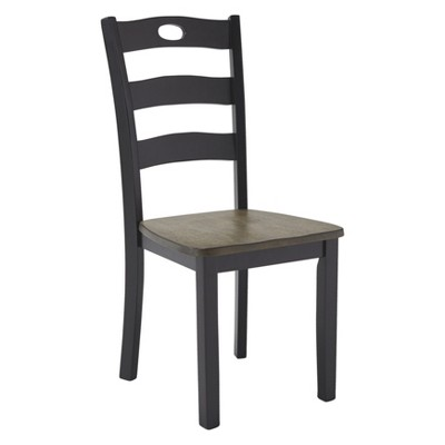 Set of 2 Froshburg Dining Room Side Chair Black/Brown - Signature Design by Ashley
