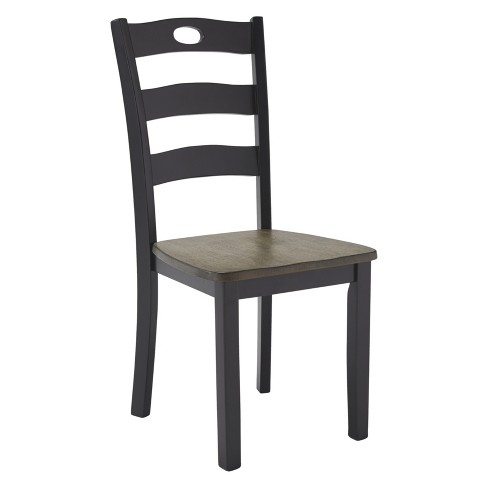 Set of 2 Froshburg Dining Room Side Chair Black/Brown - Signature Design by Ashley - image 1 of 4