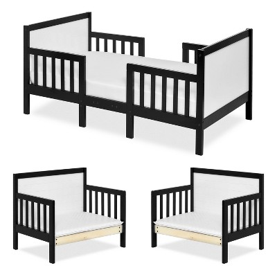 Dream On Me 3-in-1 Convertible Toddler Bed - Black/Gray