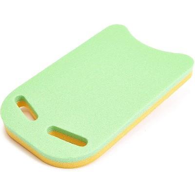 Floatation iQ Universal Foam Swimming Pool Training Fitness Exercise Paddle Kickboard, Yellow/Lime