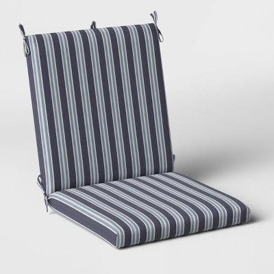 Coastal Stripe Outdoor Chair Cushion DuraSeason Fabric™ Blue - Threshold™