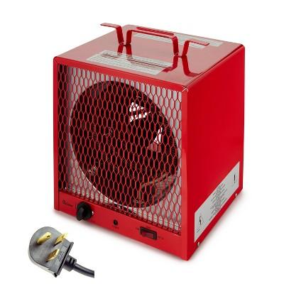 Dr. Infrared Heater DR-988 240 Volt 5600 Watt Garage Workshop Compact Portable Industrial Space Heater, Red