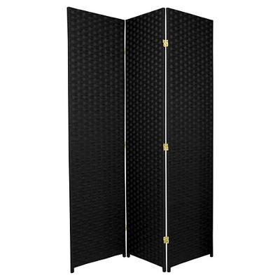 6 ft. Tall Woven Fiber Room Divider - Oriental Furniture