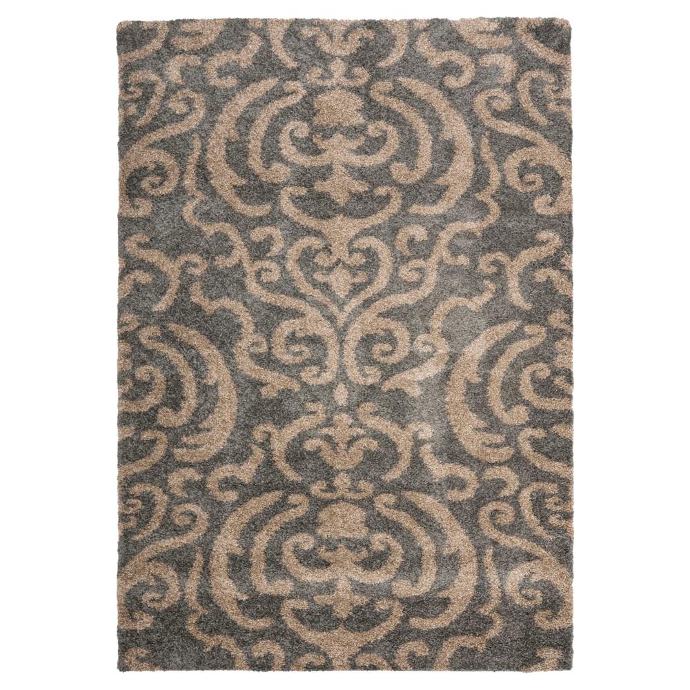 Gray Beige Abstract Loomed Area Rug 8 39 X10 39 Safavieh