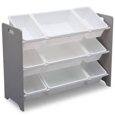 Delta Children MySize 9 Bin Plastic Toy Organizer - Gray with White Bins