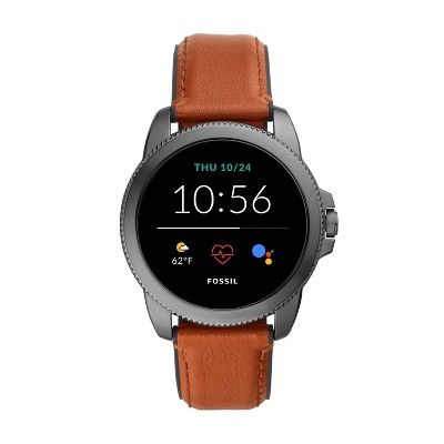 Fossil Gen 5E Smartwatch 44mm - Smoke with Brown Leather