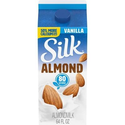 Silk Almond Vanilla Almond Milk - 0.5gal