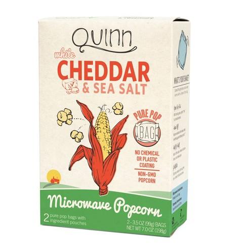 Quinn White Cheddar & Sea Salt Popcorn - 7oz - image 1 of 1