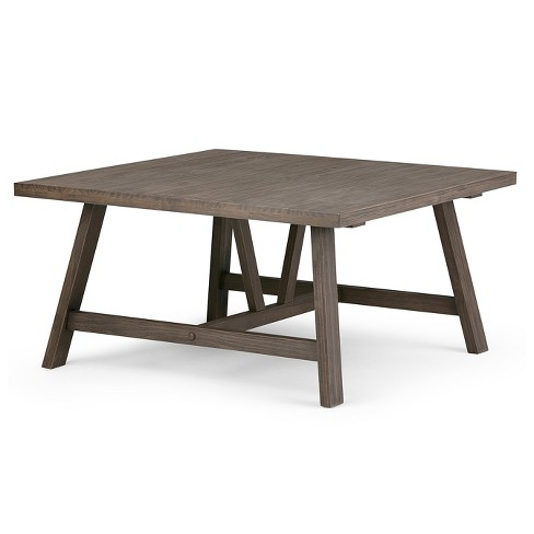 Stewart Solid Wood Square Coffee Table Driftwood - Wyndenhall - image 1 of 7