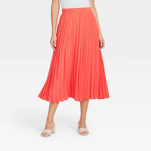 Women's Midi Pleated A-Line Skirt - A New Day™ - image 1 of 3