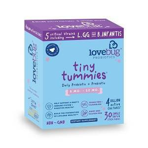 LoveBug Probiotics Tiny Tummies 30pk Infant & Baby Probiotic Supplements for 6-12 Months