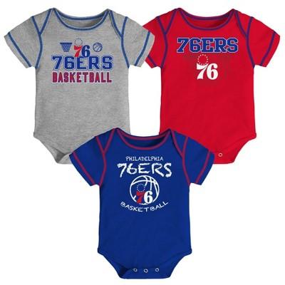NBA Philadelphia 76ers Baby Boys' Onesies Bodysuit 3pk - 12M