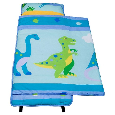 WildKin Olive Kids Dinosaur Land 100% Cotton Nap Mat - image 1 of 3