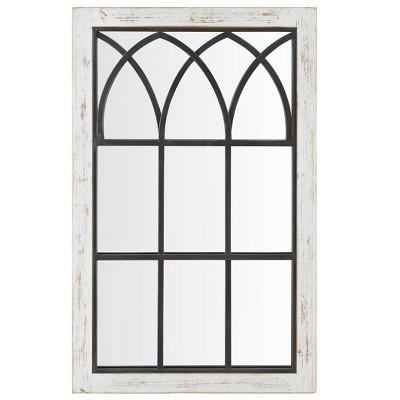 """37.5"""" x 24"""" Vista Arched Window Mirror White - FirsTime"""