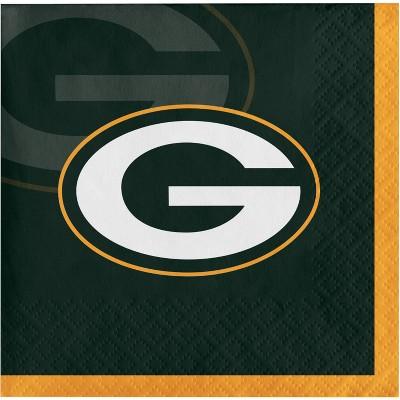 48ct Green Bay Packers Football Beverage Napkins