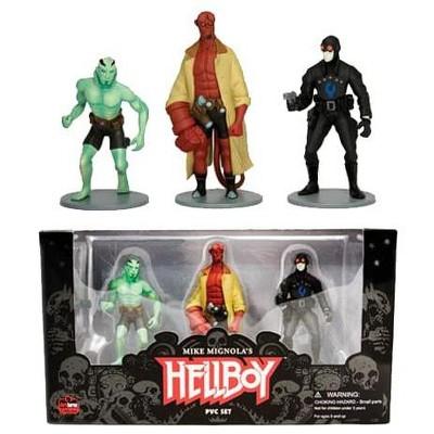 """Dark Horse Comics Dark Horse Comics Hellboy 4"""" PVC Action 3 Figure Set"""