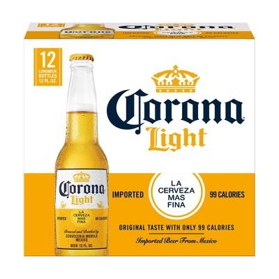 Corona Light Lager Beer - 12pk/12 fl oz Bottles