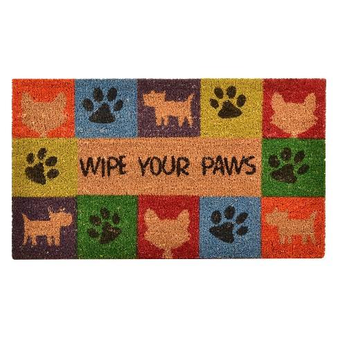 """HomeTrax Wipe Your Paws Doormat (18"""" x 30"""") - image 1 of 3"""