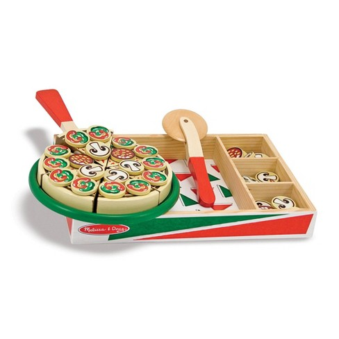 Melissa Doug Pizza Party Wooden Play Food Set With 18toppings