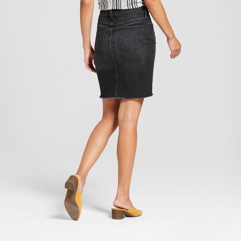 Women S Denim Mini Skirt Universal Thread Black Target
