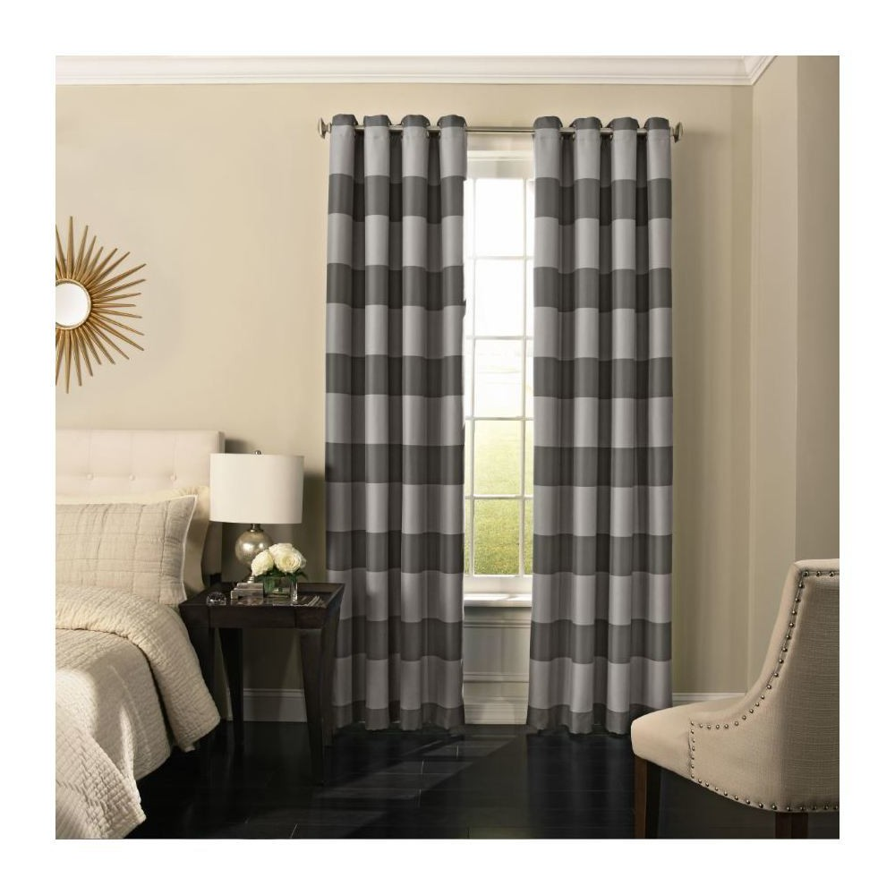 "Image of ""108""""x52"""" Gaultier Blackout Curtain Gray - Beautyrest"""