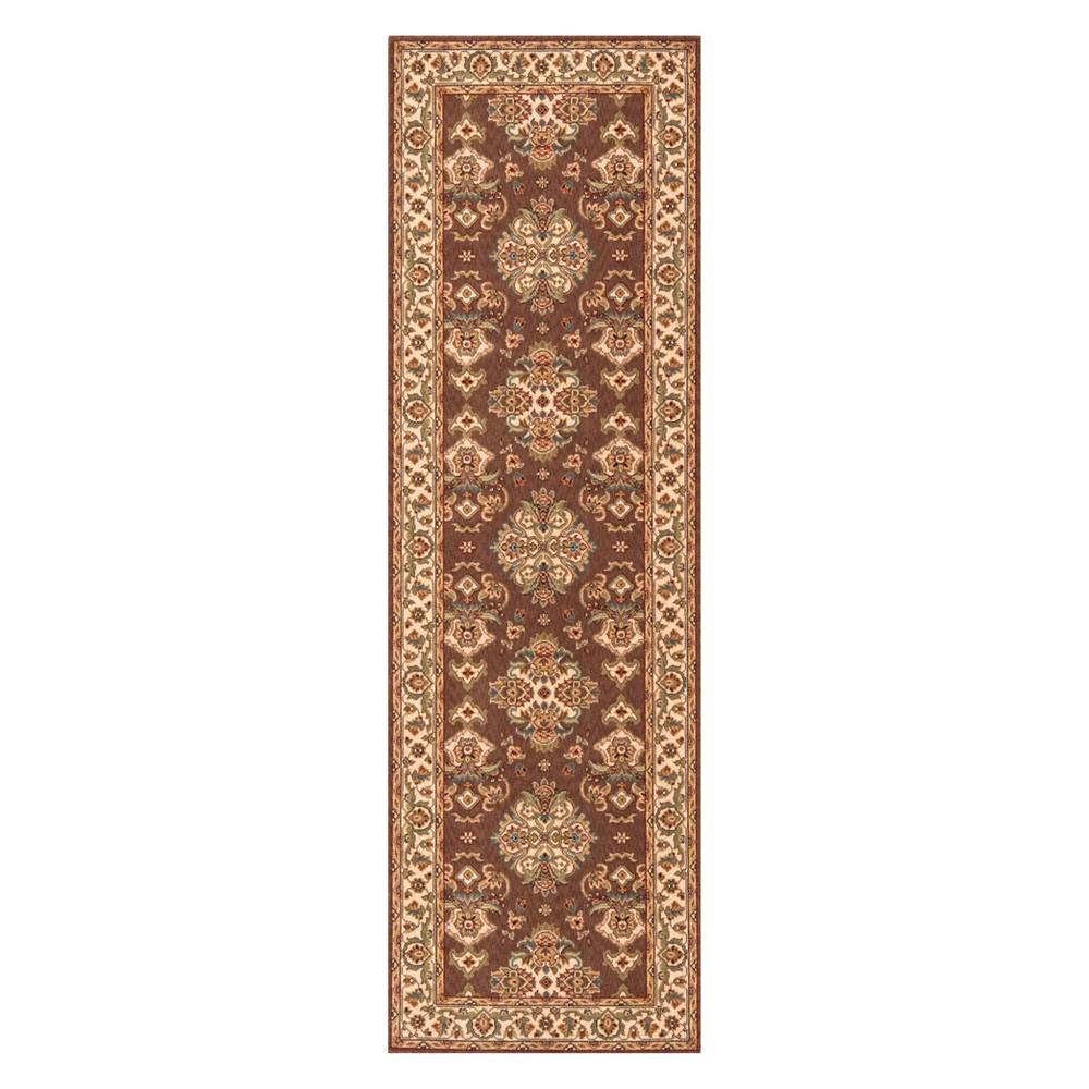 2'6X8' Damask Loomed Runner Cocoa (Brown) - Momeni