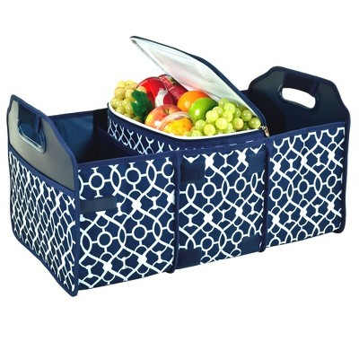 Picnic at Ascot Original Folding Trunk Organizer with Removable Cooler - Durable No Sag Design