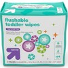 Toddler Unscented Wipes Flushable - 144ct - Up&Up™ - image 3 of 4