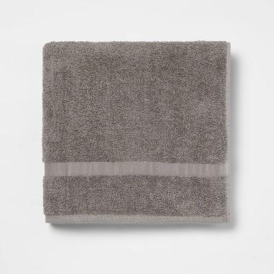 Bath Towel Dark Gray - Room Essentials™