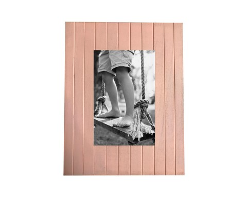 Linear Grooved Wood Frame 4X6 Belle Pink - Threshold™ - image 1 of 4