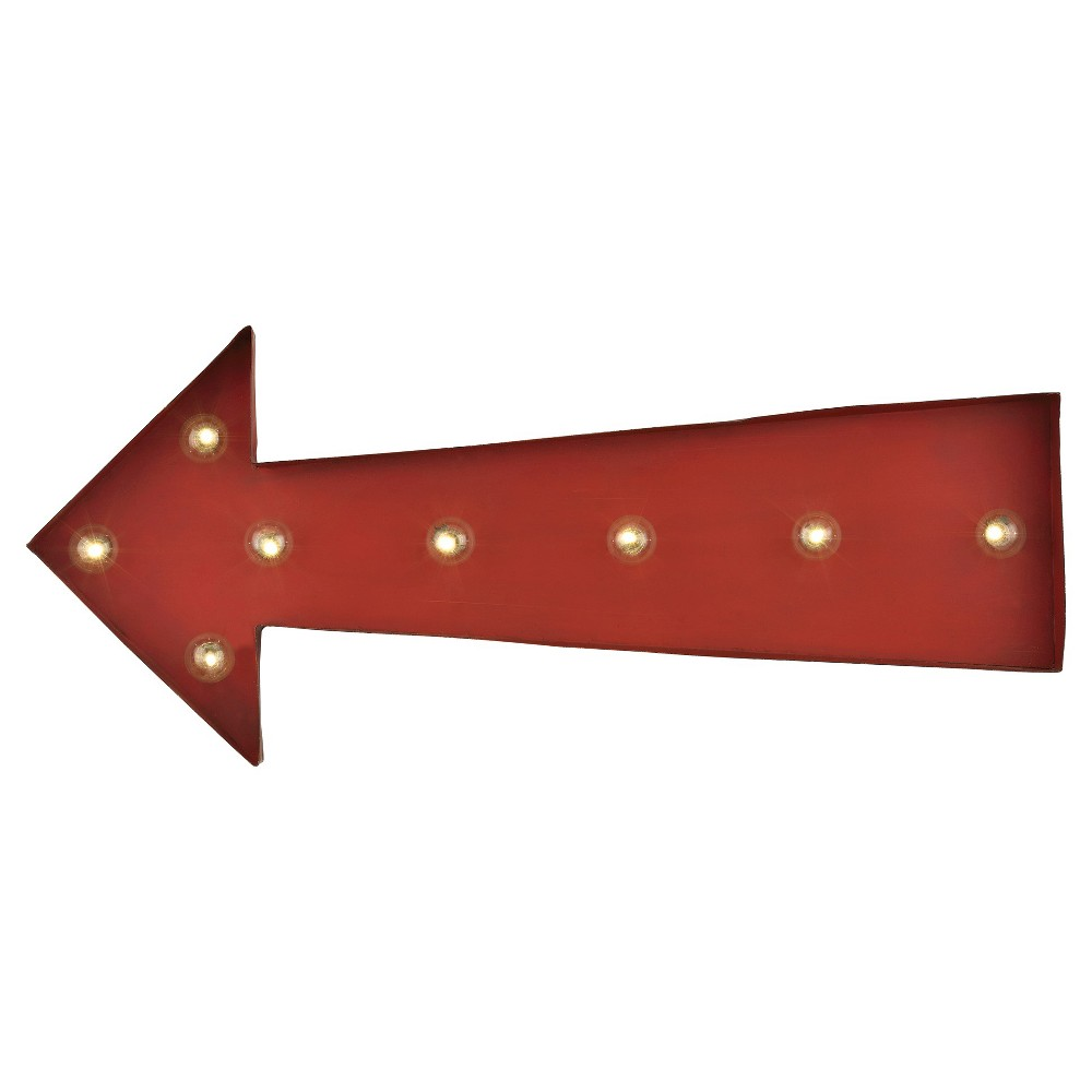 Image of Lazy Susan 10 in. Red Arrow Marquee Sign
