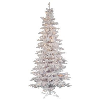 7.5ft Pre-Lit Artificial Christmas Tree Full Narrow Nordic Fir - Clear Lights