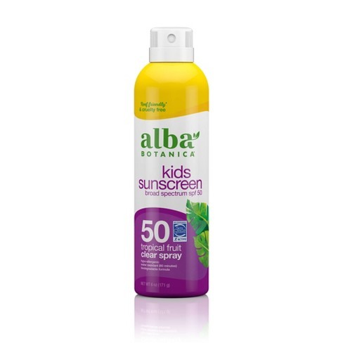 Alba Botanica Very Emollient Active Kids Clear Sunscreen Spray - SPF 50 - 6oz - image 1 of 4