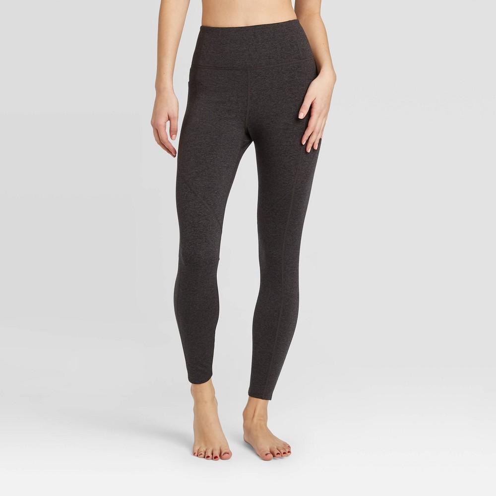 Image of Women's 7/8 High-Waisted Leggings - JoyLab Charcoal L, Women's, Size: Large, Grey