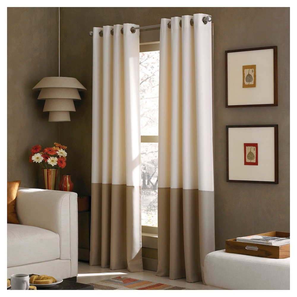 """Image of """"108""""""""x52"""""""" Kendall Lined Curtain Panel Ivory - Curtainworks"""""""