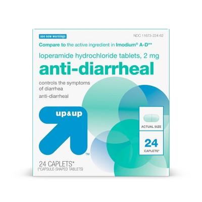 Loperamide Anti-Diarrheal Caplets - 24ct - up & up™