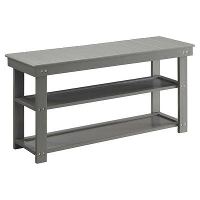 Oxford Utility Mudroom Bench Gray - Johar Furniture