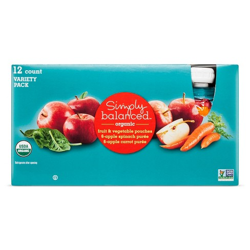 Mixed Fruit & Vegetables Poches 12ct - Simply Balanced™ - image 1 of 1