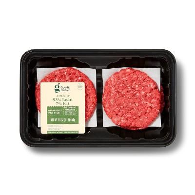 93/7 Ground Beef Patties - 1lb - Good & Gather™